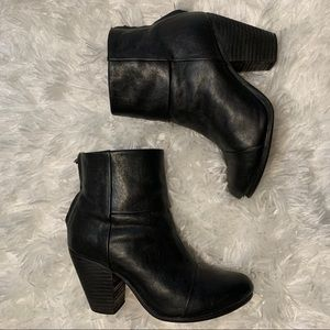 Rag & Bone Sz7 Black Leather Ankle Boots